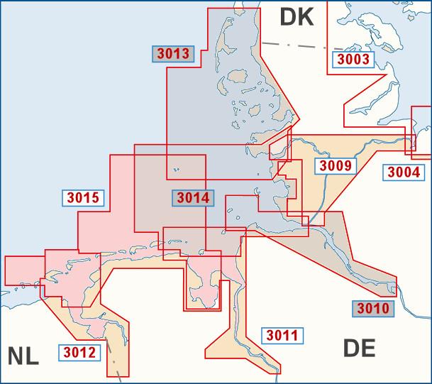 Ostfriesische Nordseeküste Karte.Bsh 3015 Deutschland Ostfriesische Inseln Maritimer Shop